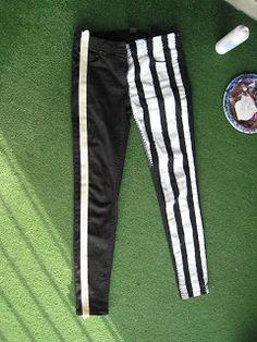Sewing in Stilettos: DIY Jail Stripe Jeans