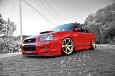 Red Wrx. Love the te37s
