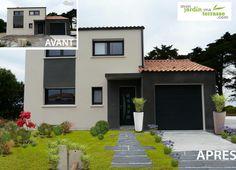 aménager une entrée de maison  moderne. www.monjardin-materrasse.com