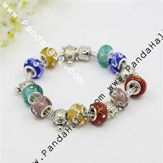 Handmade Lampwork European Style Bracelets J-JB00132-10-1