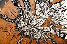 Sculpture by Jacopo Mandich. Iron & Wood @DEZIN IN