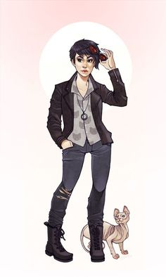 Bounding catwoman hipster