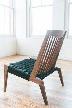 SWIFT chair || benjamin klebba || PHLOEM STUDIO || usa || domestic hardwoods with black, gray, or navy rope