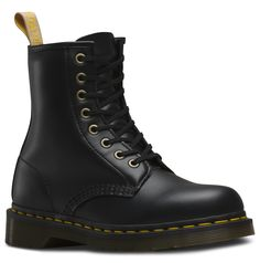 Iconic Dr. Martens in vegan (cruelty-free) leather. The brand is known for it's socially ethical practices, and now have a small line of vegan leather classics.