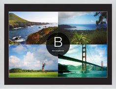 Bold Monogram Framed Print, White, Contemporary, Cream, Black, Single piece, 24 x 36 inches, Black