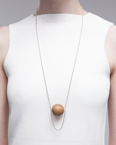 Draped Oak Orb necklace | ABSENCE OF NOISE