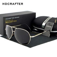 NEW Arrival Brand Designer Cool Polarized Sports Men  Pilot Sunglasses UV400 Sun Glasses Free Shipping