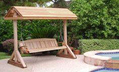 Constructia unui balansoar de gradina relaxant