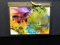 Here is a card done using photo paper and alcohol inks, super easy and fun too.