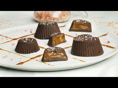 Λαχταριστά σοκολατάκια με καραμέλα βουτύρου (5 υλικά) Panna Cotta, Diy And Crafts, Recipies, Food And Drink, Pudding, Sweets, Cookies, Ethnic Recipes, Desserts