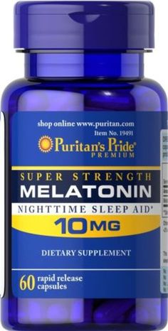 Puritan-039-s-Pride-Melatonin-10-mg-total-60-Natural-Sleep-Improve-Quality-very-Stro