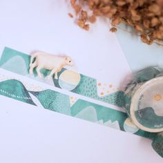 Eyes of the mountains │Walking in the Mountain paper tape Size: Length 10m x Width 1.5cm Japanese manufacturers for the production of Japanese and pap...