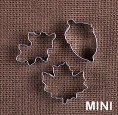 MINI Fall Cookie Cutter Set with Leaves & Acorn (Turkey Sugar Cookies)