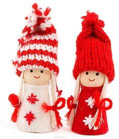 """Купить Новогоднее украшение """"Девочка"""", высота 8 см . 197408 в интернет-магазине OZON.ru"""