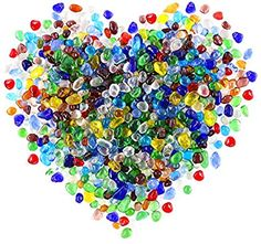 Aquarium Mosaics Jewelry Crushed Glass for Arts and Crafts Home Decorations Fusing Galaxy Glass Size #1 Vase Filler 1lb Crystals