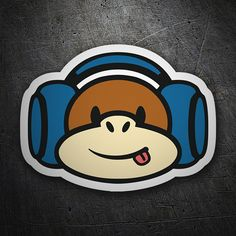 Pegatinas: Monkey Music #coche #pegatina #sticker