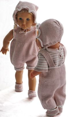 Knitting pattern for doll clothes - Beautiful summer clothes for your girl doll . : Knitted pattern for doll clothes – Beautiful summer clothes for your girl doll and your boy doll Double Knitting Patterns, Knitted Doll Patterns, Dress Sewing Patterns, Knitted Dolls, Knitting Dolls Clothes, Baby Doll Clothes, Boy Doll, Girl Dolls, Dolls Dolls