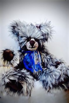 Teddy Bear Bella is a 26 inch Plush Handmade, Stuffed, Jointed White Heirloom, Collectible, Artist Bear with Felted Face by BearSouls on Etsy