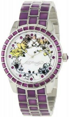 Relógio Ed Hardy Women's BE-PU Bella Purple Watch #Ed Hardy#Relógio