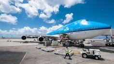 KLM Boeing 747 platform