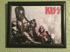Kiss Memorabilia Lot. 5 framed photos of vintage Kiss. Gene, Paul, Ace, Peter #kiss #photos #collectibles