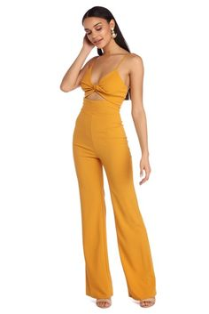 2b64f385d2b Mustard Twist   Shout Jumpsuit