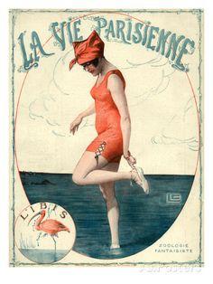 La Vie Parisienne, Georges Leonnec, France Art Print