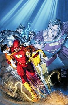 Flash (Wally West) by Doug Braithwaite Flash Barry Allen, Nightwing Young Justice, Dc Speedsters, Arte Dc Comics, Flash Comics, O Flash, Flash Wallpaper, Ride The Lightning, Marvel E Dc