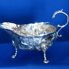#Antique #Irish #Silver #Sauce #Boat Diamond Rings, Diamond Engagement Rings, Selling Antiques, Unique Vintage, Dublin, Irish, Vintage Jewelry, Boat, Silver