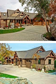 Craftsman style home exteriors