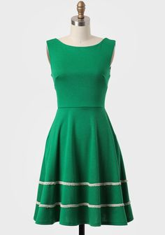 Coquette Indie Dress In Emerald By Fleet Collection