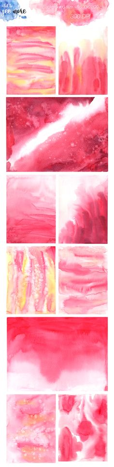 Watercolour flow pink Background