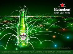 Heineken Open Your World Beer Advertising Campaign Cheers, Interesting Reads, Ad Design, Graphic Design, Advertising Campaign, Photo Illustration, Marketing, Packaging Design, Alcoholic Drinks