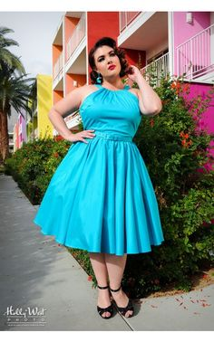 This matches my hair right now. Harley Dress in Bright Blue - Plus Size