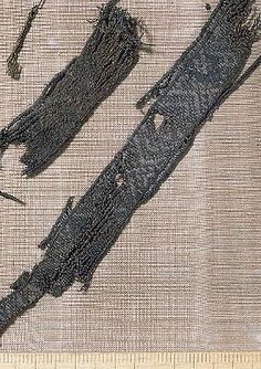 Viking age fragment of tablet woven band fromgrave at Birka, Sweden. Inkle Weaving, Inkle Loom, Card Weaving, Lucet, Textiles, Norse People, Tablet Weaving Patterns, Viking Dress, Viking Culture