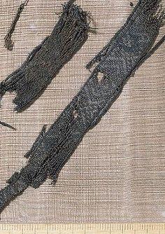 Viking Tablet Braid. Tablet woven, pattern  brocaded.