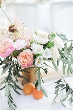 Lovely blooms: http://www.stylemepretty.com/2015/03/31/elegant-summer-wedding-in-ischia/ | Photography: Taylor Barnes - http://www.taylorbarnesphotography.co.uk/