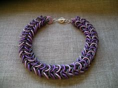 Necklace | Angela Garrod. Polymer Clay Chain Maille