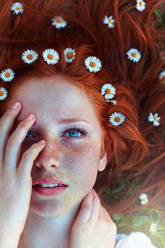 photography portrait nature red hair long hair Freckles Maja Topcagic Asima Sefic love love love, how i wish i was a redhead