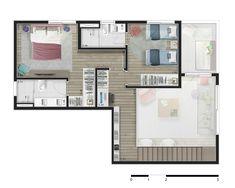 Pinterest: @claudiagabg | Apartamento 2 pisos 2 cuartos 1 estudio abierto  terraza / planta 2 #terrazaplantas
