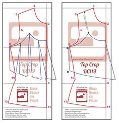 Motif couture couturière create Chest crop top vol Lingerie Patterns, Clothing Patterns, Sewing Patterns, Easy Sewing Projects, Sewing Hacks, Sewing Tutorials, Blusas Crop Top, Crop Tops, Sewing Clothes