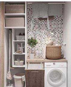 Who says that having a small laundry room is a bad thing? These smart small laundry room design ideas will prove them wrong. Room Design, Room Organization, Laundry Room Decor, House Interior, Bathroom Interior, Small Bathroom, Utility Rooms, Small Rooms, Bathroom Decor