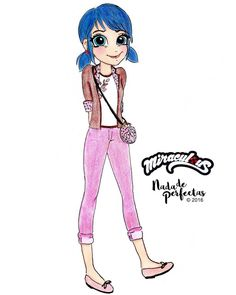 My drawing of Marinette from Miraculous!  On my drawing style (with copyright since © 2005, 2016)  I hope you like it!  Mi dibujo de Marinette de Prodigiosa!  en mi estilo de dibujo (derechos...