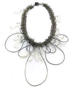 KAREN GILBERT-USA untitled  neckpiece   sterling silver, pyrex, glass beads    2008