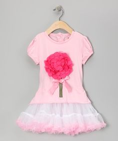 Take a look at this Pink Petal Bouquet Ruffle Dress - Infant, Toddler & Girls by Dolce Liya on #zulily today!