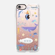 iPhone 7 Capa Under the sea, mermaid, whale and delphine underwater adventures.