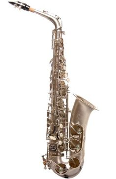 Ravel PR12NS Alto Saxophone Sand Blasted Nickel Plated - Key of Eb ** Click image for more details.