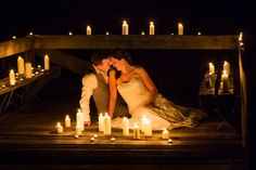 Kara and Aaron bathe in the candlelight..  Picture: Envision Photography #fraserislandweddings #fraserisland #weddings #destinationweddings http://www.fraserislandweddings.com.au/