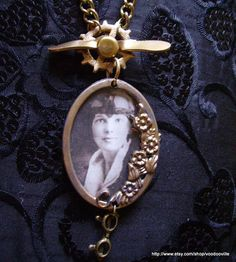 I want this Amelia Earhart steampunk pendant. I think it's a lovely tribute to an incredible woman.