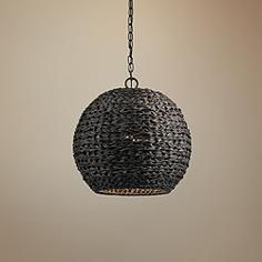 """Palisades 16 1/2""""W Bronze and Chestnut Outdoor Pendant Light"""